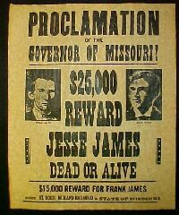 Jesse James (hopefully Ryan and I can find a JJ drop point over spring break!!)