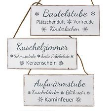 3tlg. Schild WINTERZEIT shabby chic Holzschild Weihnachten Bastelstube etc.