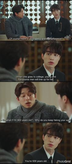 The Grim Reaper knows the problem with the age difference   #Goblin #LeeDongWook #GongYoo