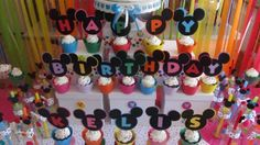 A PERFECT ADDITION TO YOUR MICKEY CLUBHOUSE THEME PARTY!  These toppers will look awesome on your dessert table. You will receive HAPPY