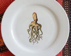 assiette porcelaine de salade/ dessert Flet par dArlhacDesign