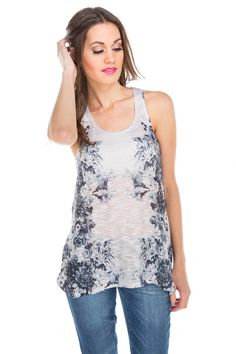 Floral Sublimation Knit Tank #eclipsestyle