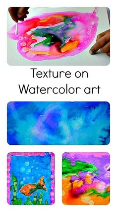 Texture on Watercolor Projects: Fun Process Art using rubbing alcohol and liquid watercolors