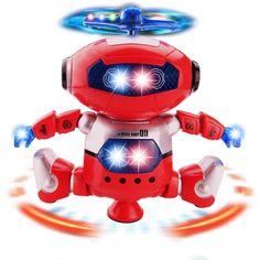 Robot điện Đồ Chơi Vật Nuôi Dancer Robot 360 Rotating Nhảy Nhạc Đi Bộ Làm Sáng Đồ Chơi Điện Tử Cho Trẻ Em Kids Quà Tặng Sinh Nhật
