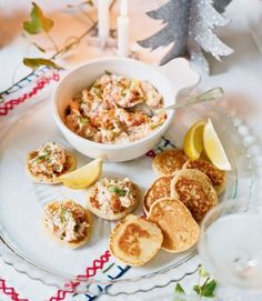 Blinis with Smoked Salmon and Dill Pate
