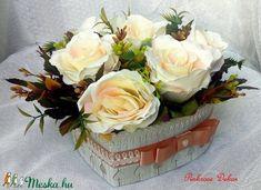 Szív alakú rózsabox (pinkrose) - Meska.hu