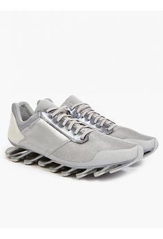 adidas by Rick Owens Men's Silver Springblade Low Sneakers | oki-ni