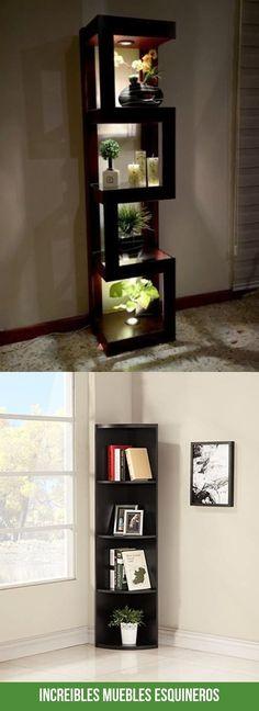 Las mejores imagenes de muebles esquineros Bookcase, Shelves, Interior Design, Building, House, Furniture, Cool, Home Decor, Frases