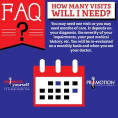When it comes to how many visits you'll need for physical therapy, it depends on your circumstances. Check it out. #FAQ #PT #Visits