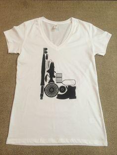Women's Shop Fly Fishing Gear Logo Shirt - White