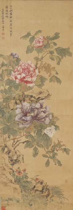 Peonies, Yun Shouping (Attributed to)