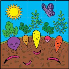 Art Projects for Kids: Happy Vegetables Mural