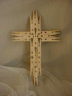 clothespin cross