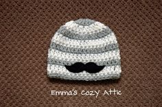 Baby boy beanie, newborn boy beanie, mustache, baby shower gift, mustache baby clothes, baby boy coming home outfit, infant boy, photo prop on Etsy, $24.00