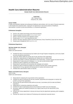 Healthcare Manager Resume Resume Examples Healthcare  Pinterest  Sample Resume And Resume .