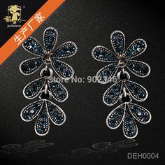 Grandes Top Fashion Sterling Jewelry New Sale Vintage Alloy Earrings for Women Shinny Crystal Statement Wholesale