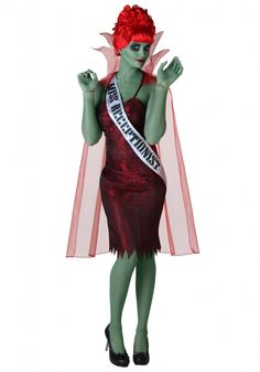 Beetlejuice - Miss Argentina receptionist costume (definitely replace that sash with one of your own)