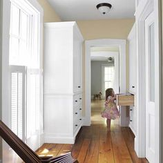 An enfilade is a series of doors to connecting rooms arranged so that there is one uninterrupted sight line. Bathroom Inspiration, Interior Inspiration, Bathroom Ideas, House Worth, Home Structure, Master Bath Remodel, Architectural Features, Built In Wardrobe, House Rooms