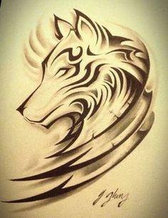 Wolf tattoo #2