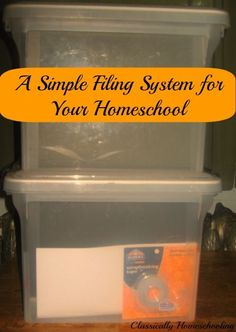 Get organized with a simple filing system for your homeschool that works!