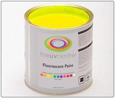 Yellow fluorescent paint