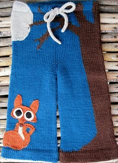 Knitting- Owl on the backside of the pants