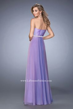 You are sure to feel glamorous and beautiful in La Femme Style #22382 available at Whatchamacallit Boutique