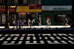 New York Subway Shadows Brighton Beach Fine by FineArtStreetPhotos