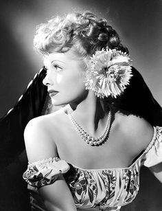 Old Hollywood / Lucille Ball 1940's.I swear , My Grandmother and her look SO much alike.