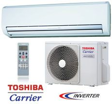 Toshiba-Carrier RAS Series Ductless High Wall Heat Pump System with Inverter Technology