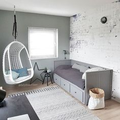 36 Ideas Bedroom Storage Bed Guest Rooms 36 Ideas Bedroom Storage Bed Guest Rooms This imag Daybed Room, Bedroom Loft, Bedroom Storage, Room Decor Bedroom, Kids Bedroom, Storage Beds, Childrens Bedroom, Storage Cart, Ikea Hemnes Bed