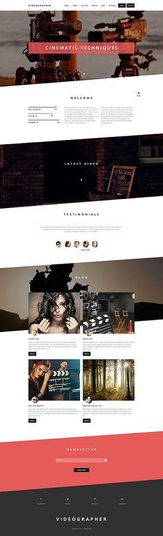 Videographer Portfolio #Drupal #template. #themes #business #responsive