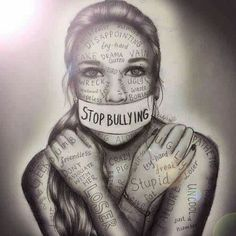 Stop bullying artwork by kristina Webb people need to understand that words hurt? how many more teenagers need to die to figure out that bullying is wrong? Kristina Webb Art, Kristina Webb Drawings, Stop Bulling, Ps Wallpaper, Arte Obscura, Anti Bullying, Cyber Bullying, Verbal Bullying, Workplace Bullying