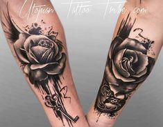 These couple tattoos help you to show that how much love you have devoted to each other. So, let's explore 32 couple tattoos for every couple should try. Marriage Tattoos, Partner Tattoos, Relationship Tattoos, Rose Tattoos, Body Art Tattoos, Sleeve Tattoos, Skull Tattoos, Mini Tattoos, Flower Tattoos