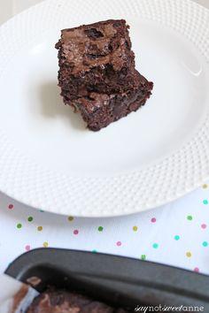 Guilt Free Gluten Free Black Bean Brownies - Sweet Anne Designs
