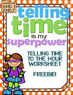 Use this worksheet to reinforce your teaching on Telling Time to the Hour! This worksheet has 9 analog clocks and students will fill in the time on. Math Classroom, Kindergarten Math, Maths, Multiplication Worksheets, Classroom Ideas, Preschool, Math Skills, Math Lessons, Spanish Lessons