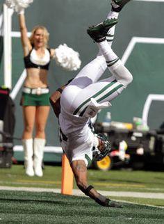 New York Jets defensive back Antonio Cromartie scores a touchdown against the Buffalo Bills.