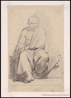 [Estudio de paño]. Madrazo y Kuntz, Federico de 1815-1894 — Dibujo — 1835-1894?