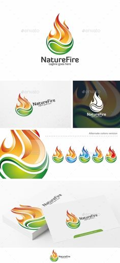 Nature Fire  - Logo Design Template Vector #logotype Download it here: http://graphicriver.net/item/nature-fire-logo-template/10729974?s_rank=1149?ref=nexion