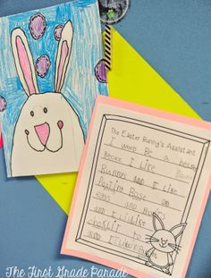 The First Grade Parade: Easter bunny art and writing about being the Easter Bunny's helper