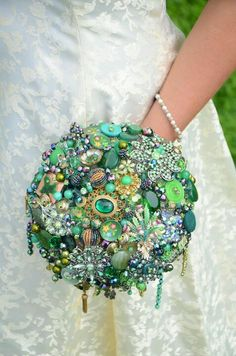 Broaches!  A bouquet of broaches to use in a wedding