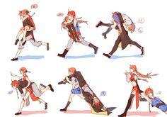 Kamui and Kagura Kawaii Chibi, Anime Kawaii, Anime Couples, Cute Couples, Manga Anime, Anime Art, Gintama, Bleach Couples, Cute Couple Comics