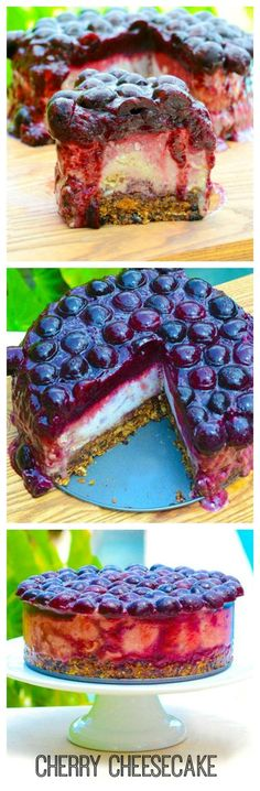 Raw Vegan Cherry Cheesecake - Low-fat, gluten free, dairy free, chemical free, and delicious! (It says delicious. I'll have to eat to believe on this one Raw Vegan Desserts, Vegan Treats, Paleo Dessert, Vegan Foods, Gluten Free Desserts, Dairy Free Recipes, Raw Food Recipes, Dessert Recipes, Cooking Recipes
