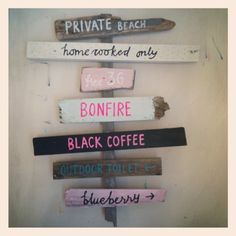 HAPPY PAINTINGS STUDIO, love this idea for a sign in front of our entry door - with personalized wording of course.