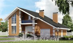 190-006-R dubleks ev projesi mansart katlı, garaj, basit sandviç panel villa…