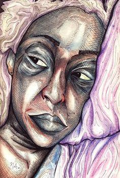 Sketchy #790: Courtney G. Holland by Natalia Arias