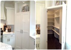 Mind blowing double door pantry.  It looks so discreet and opens to a walk-in pantry. | via House of Smiths Love it 2013 Salt Lake City Parade of Homes = A Happy House Peeper