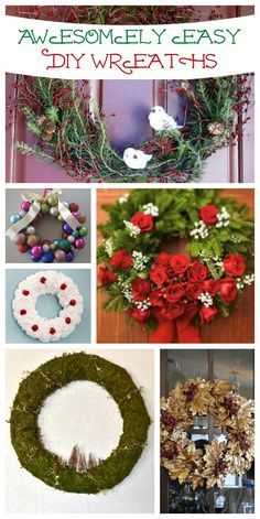 Nine Easy Wreaths You Can Totally DIY!