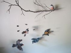 CHOOSE YOUR BIRDS, Custom made Birds and Bees needle felted baby mobile on Etsy, $120.00