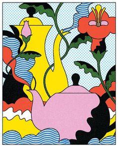 ...#illustration #illo #teapots #tea #teatime #flowers #lantruong Hippie Art, Psychedelic Art, Instagram Website, Tea Illustration, Pattern Illustration, Graphic Art, Graphic Design, Art Inspo, Art Reference